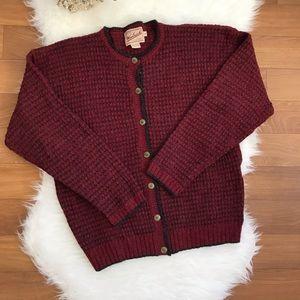 Woolrich 100% Wool Claret Cardigan